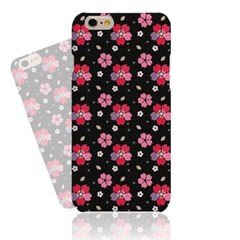 Black Simple Flower (HF-133C) Hard Case
