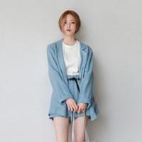 Linen opening jacket