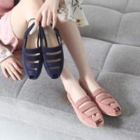 Kami et muse Sling back flat sandals_KM17s145