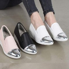 kami et muse Shiny toe combi punching slip on_KM17s142