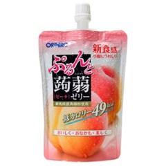 오리히로 푸룬토 곤약젤리 복숭아맛 130g 16팩 묶음
