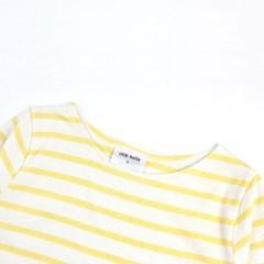 [리틀비티] 싱글 스트라이프 티 (레몬옐로우)_(542368)