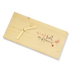 나무 캘리 메세지 탁상시계 for 어버이날 선물(주문제작 가능)