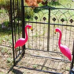 플라밍고 정원 장식