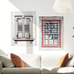 패브릭 천 포스터 F026 바란스커튼 프렌치 윈도우 no.2