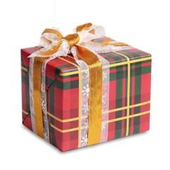 포장지 체크 크리스마스 (1개)
