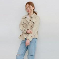 Short classic trench coat