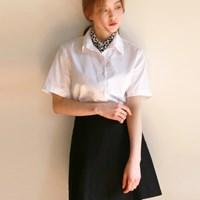 Basic half cotton shirt