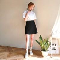 Side pleats skirt pants