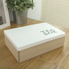 홈가든 우드 수납 박스(Teabox)