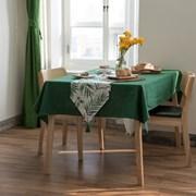 린넨 테이블 클로스-그린