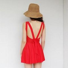 Back ribbon swimsuit