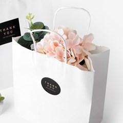[인디고샵] 화이트 쇼핑백 - 소,중,대
