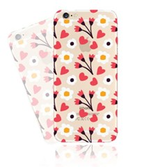 Simple Red Flower (JF-001B) Jelly Case