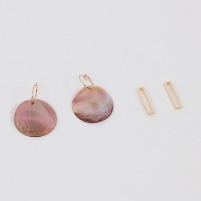[2컬러]4way nacre earring