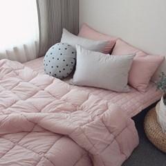 피그먼트 사각 누빔이불 (핑크) - 싱글세트