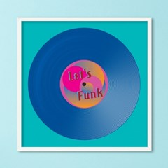 LP 메탈 액자 - let's funk