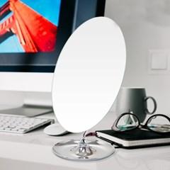 [트리빔하우스] 수납 타원형 탁상 거울