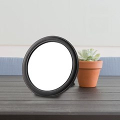 [트리빔하우스] PU 원형 거치형 탁상 거울