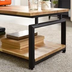 [트리빔하우스] 라온 철제 원목 1000 좌식 수납 테이블
