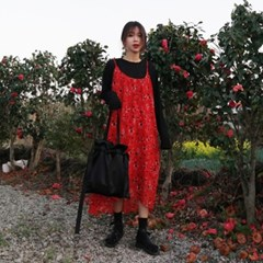 Black satin bag