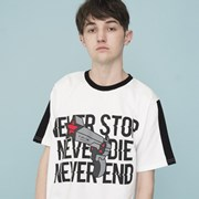NEVER Graphic T-shirts (WHITE)