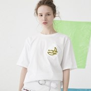 Slanted Pocket T-shirts (WHITE)