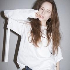 Ring Detail Long Sleeve T-shirts (WHITE)
