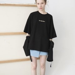 Ring Detail Long Sleeve T-shirts (BLACK)