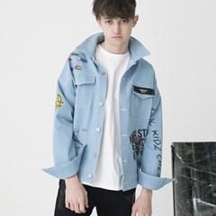 Artist Hommage Denim Trucker Jacket (BLUE)