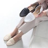 kami et muse Side open stitch loafer sandals_KM17s155