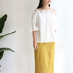 Lace Cotton BLOUSE (2-color)