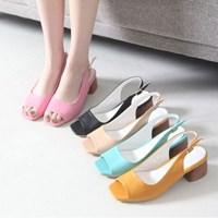 kami et muse Toe open Middle heel sling back sandals_KM17s161