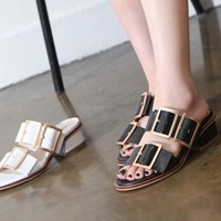 kami et muse Over belted middle heel slippers_KM17s160
