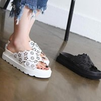 kami et muse Punching tall up leather slippers_KM17s159