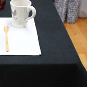 내츄럴 린넨 식탁보 - 시크블랙