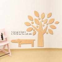 우드스티커- 강아지와나무 (반제품) W503 동물 캐릭터