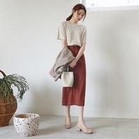 Stitch long skirt