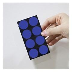 폼텍 마이스티커 도트 08 스틸 블루 25mm 시트 [10시트]