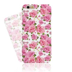 White BG Pink Rose  (HF-146B) Hard Case