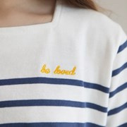 SQUARE STRIPED TEE-BLUE