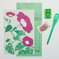 Post card - Illustration (Morning glory)