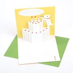 팝업카드_Happy Birthday_멍이의 2단 케이크