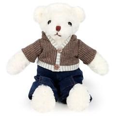 니트 테디베어 남자곰 인형-30cm(옵션선택)