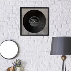 LP 메탈 액자 - vintage black and gray