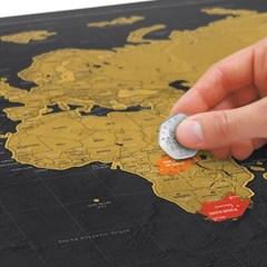 [원더스토어] 럭키스 스크래치 맵 세계지도 디럭스 (소_(796680)
