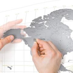 [원더스토어] 럭키스 스크래치 맵 세계지도 클리어_(796677)