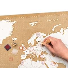 [원더스토어] 럭키스 스탬프 맵 세계지도_(796675)