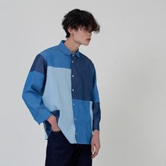 PATCHWORK SHIRTS_DENIM