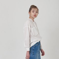 LINE BLOUSE_WHITE